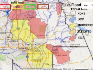az flood map